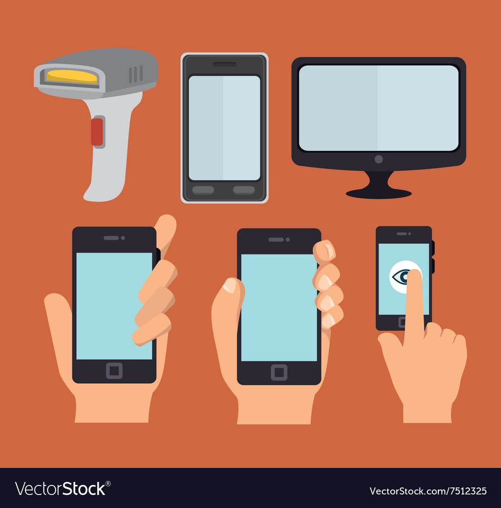 Smartphone technology design vector