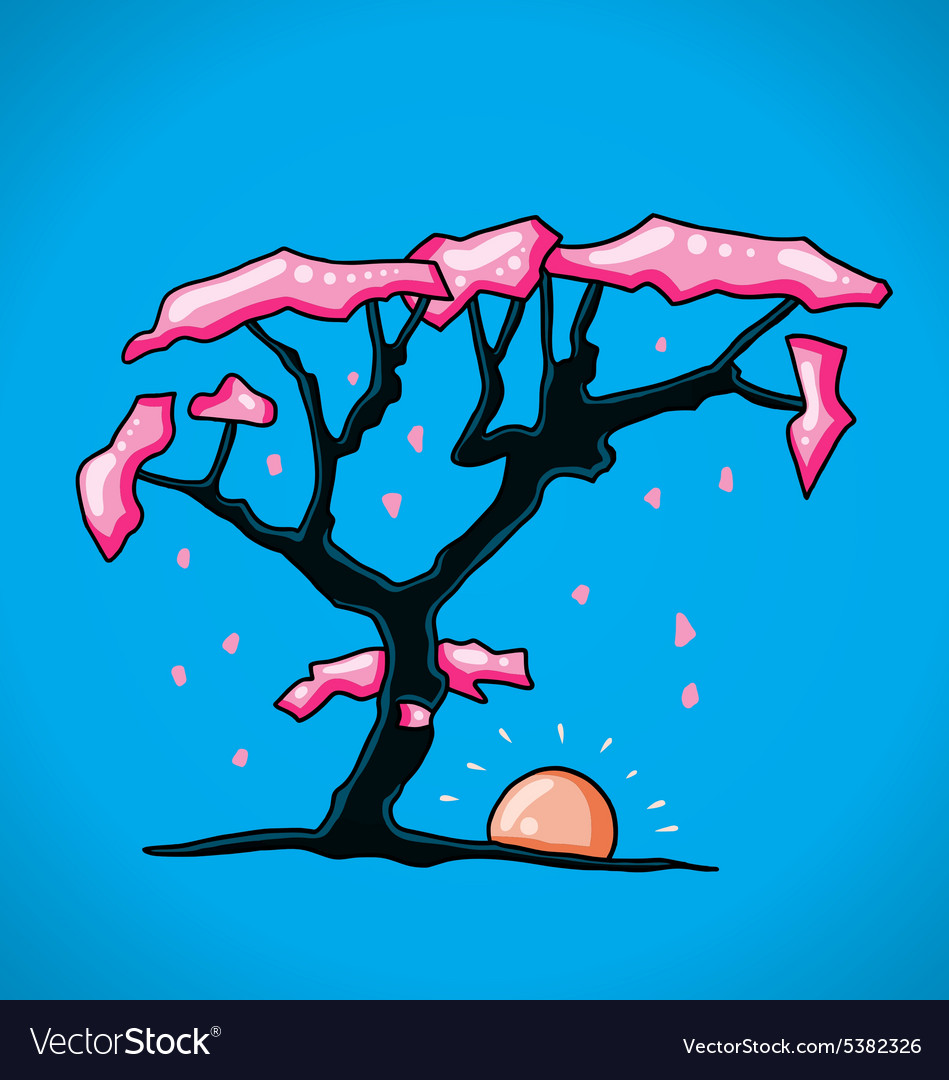 Figure cherry tree vector
