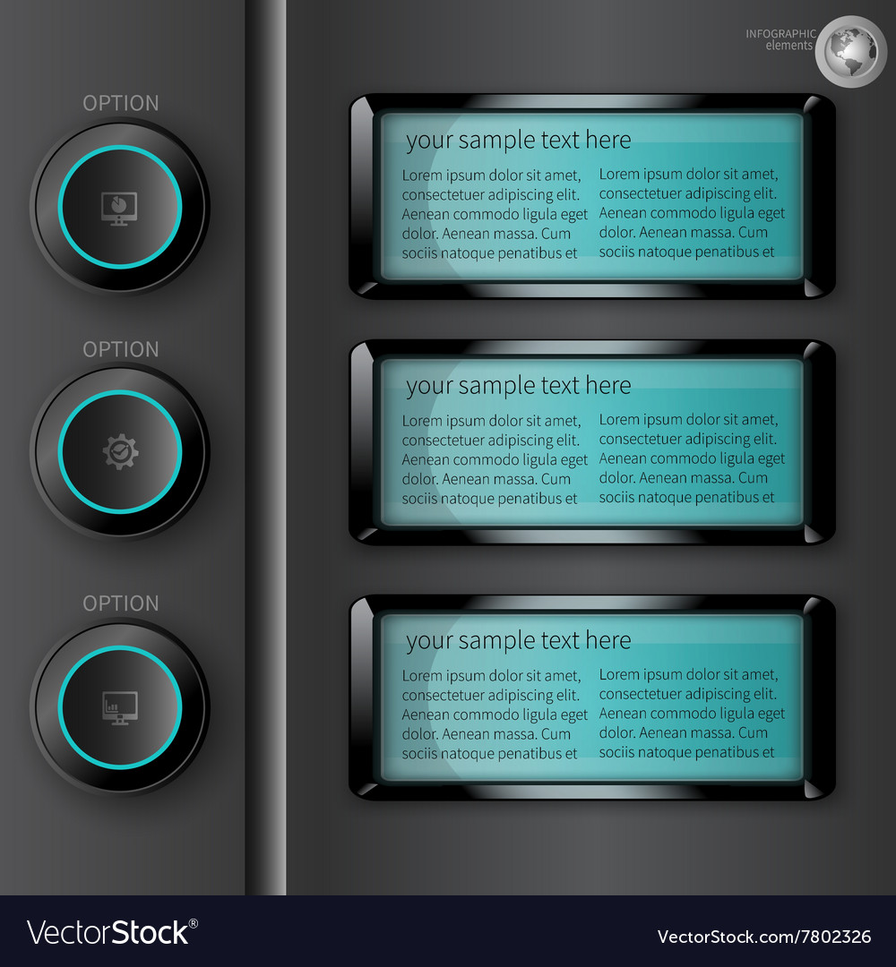 Luminous dark infographics vector