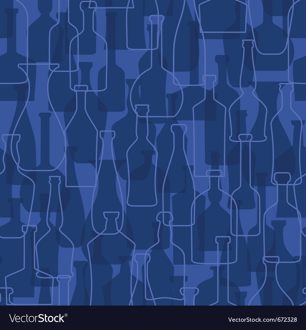 Bottles seamless pattern background vector