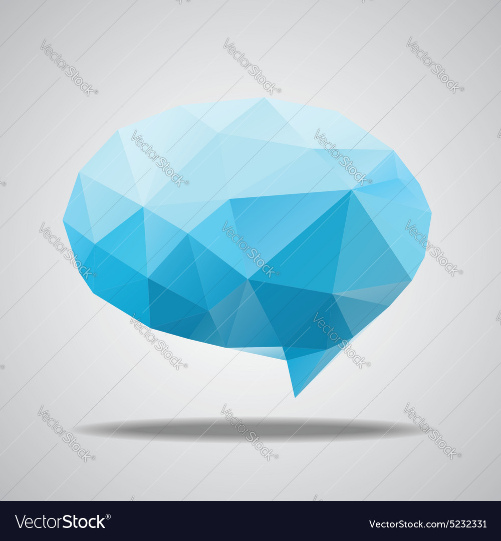 Bright speech cloud and blobs vector
