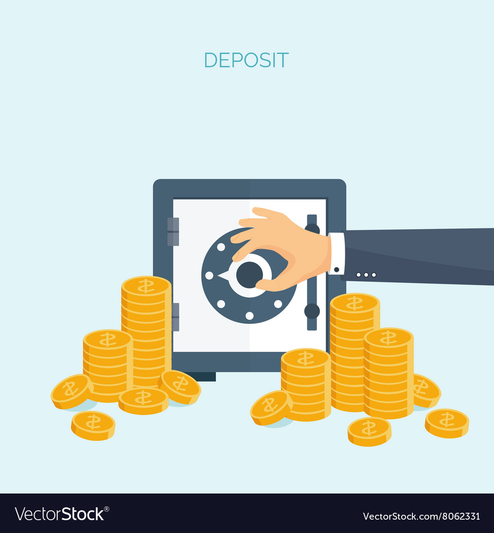 Flat header money money vector