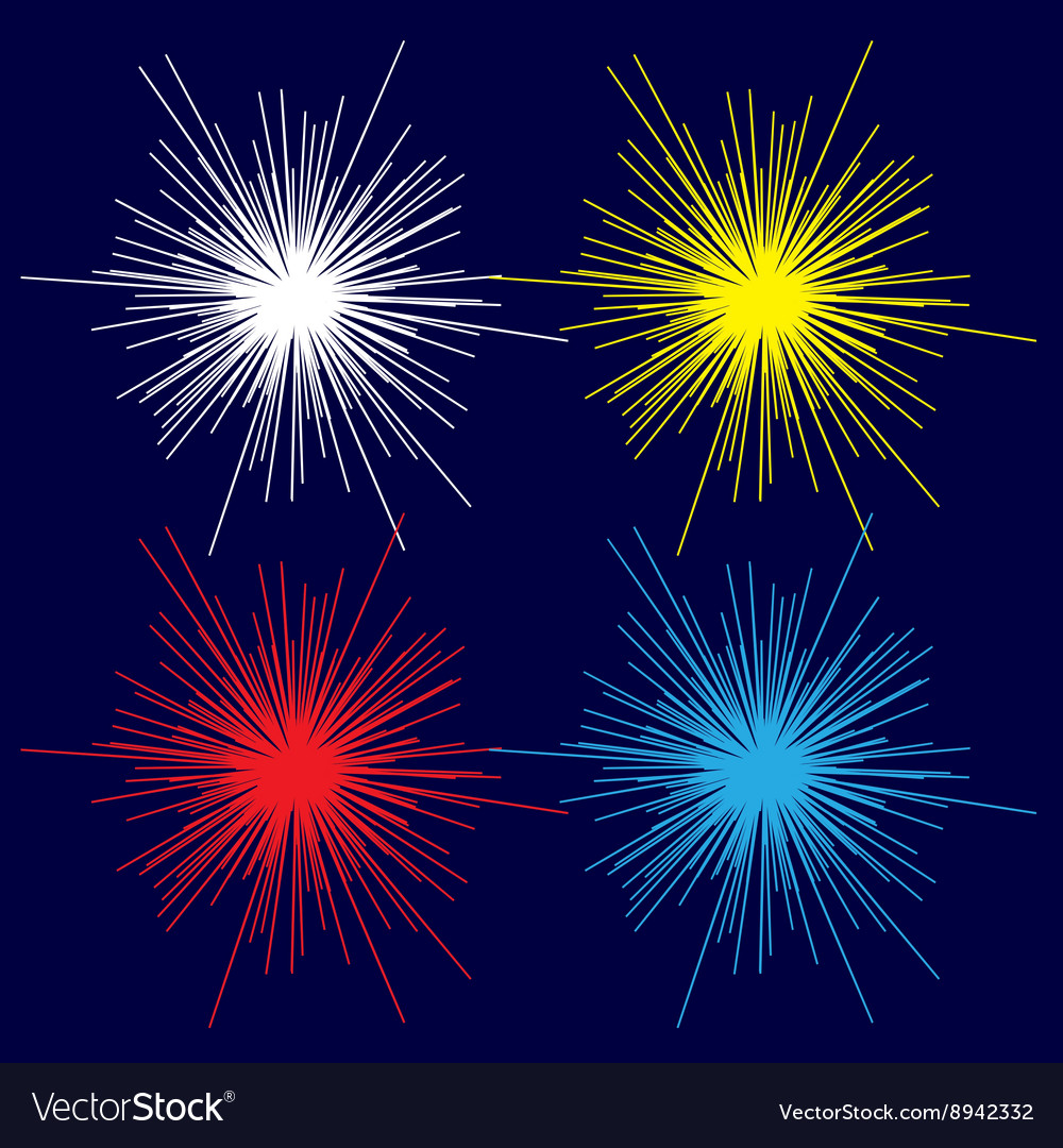 Bright flash image vector