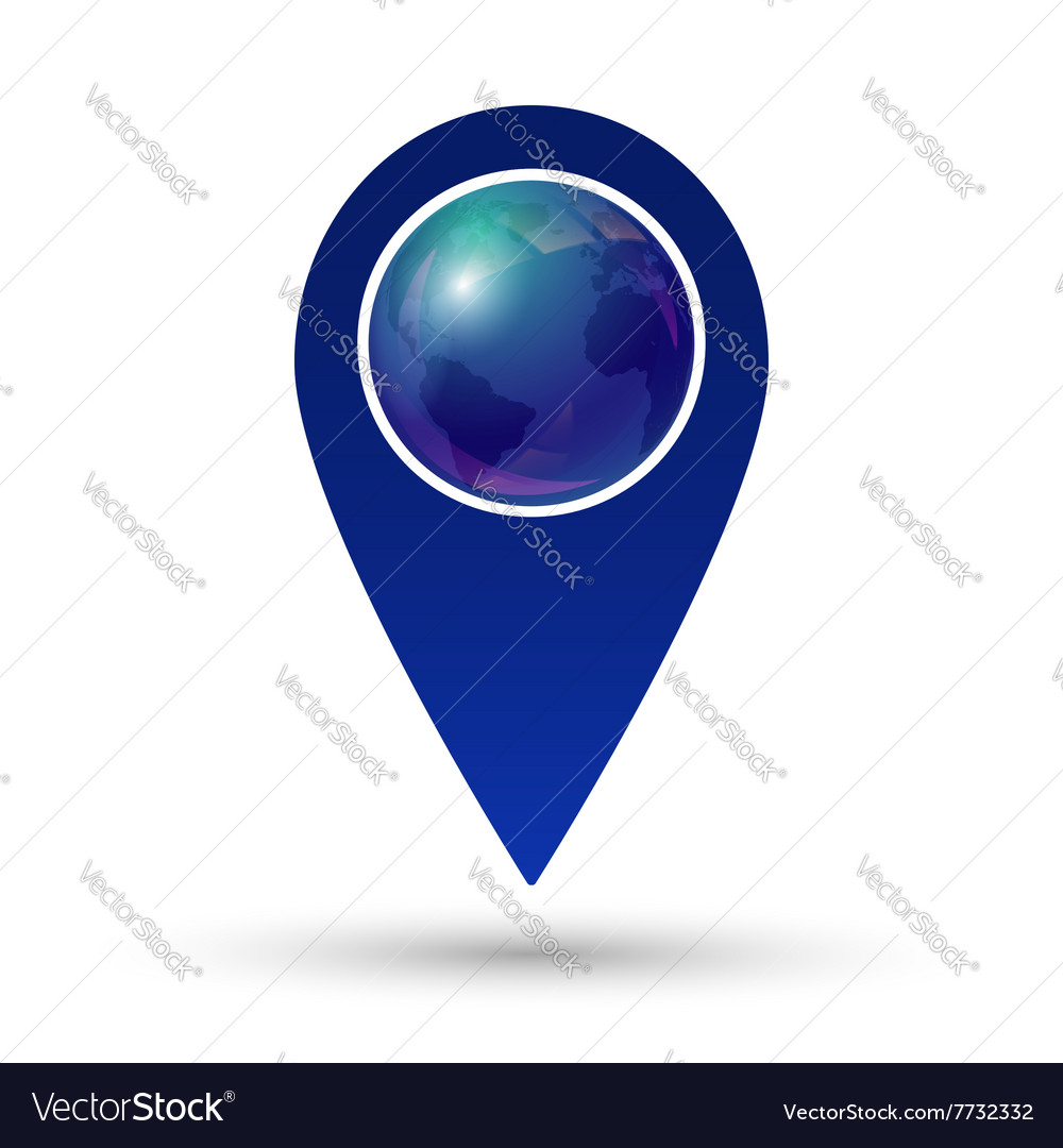 Globe location icon vector