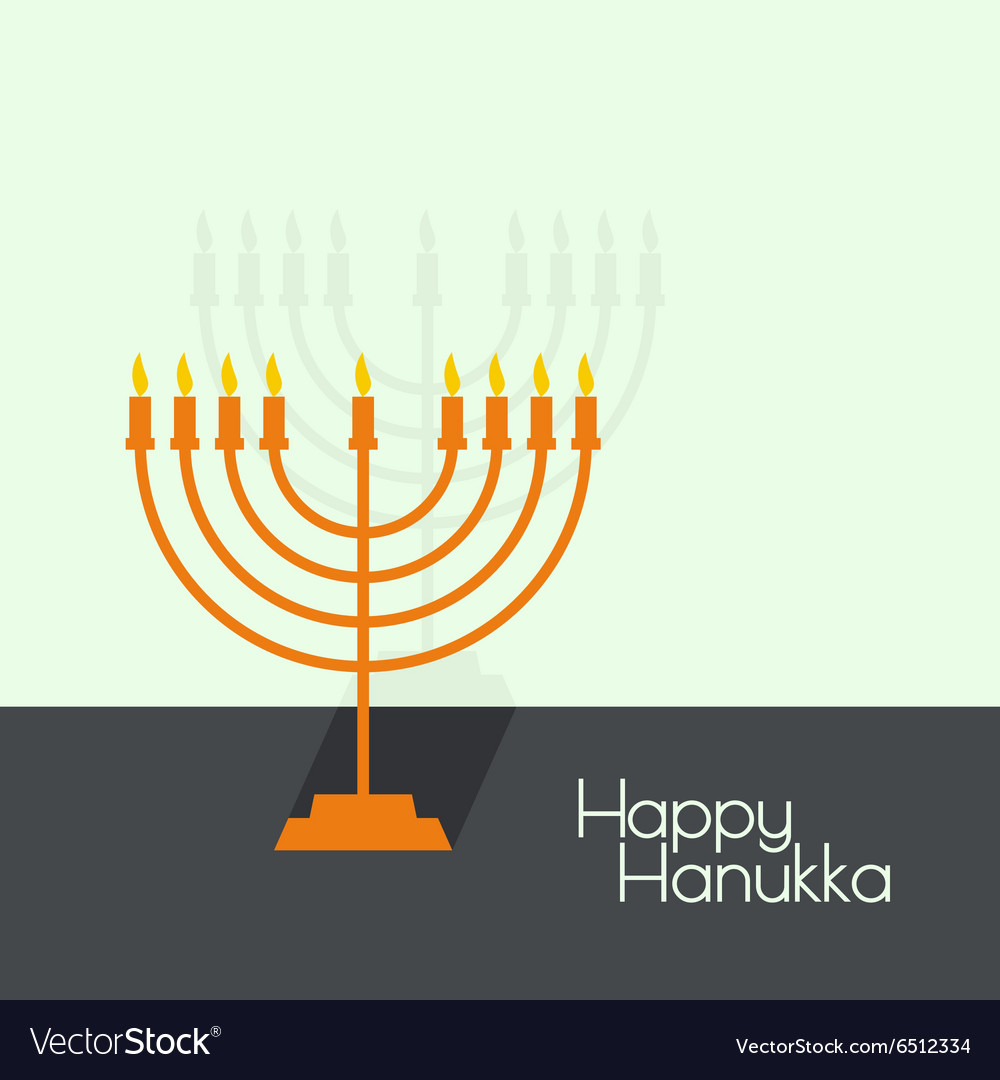 Jewish menorah icon vector