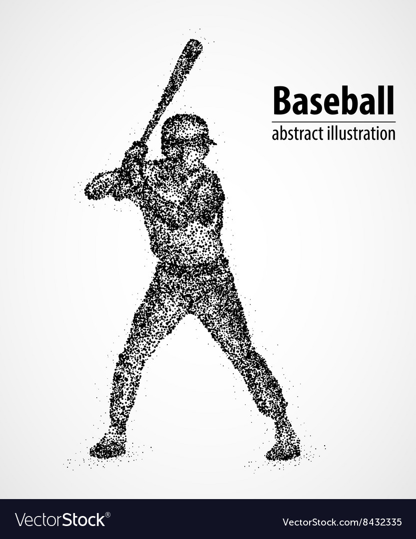 Baseball hockey stick abstraction vector