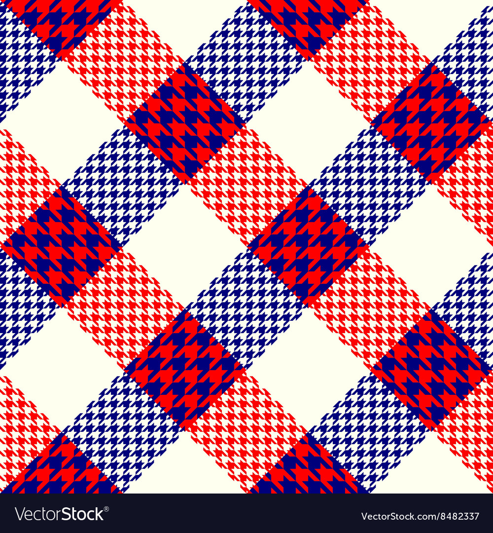 Diagonal plaid background vector