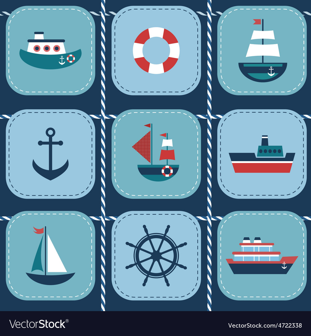 Background with water transport vector