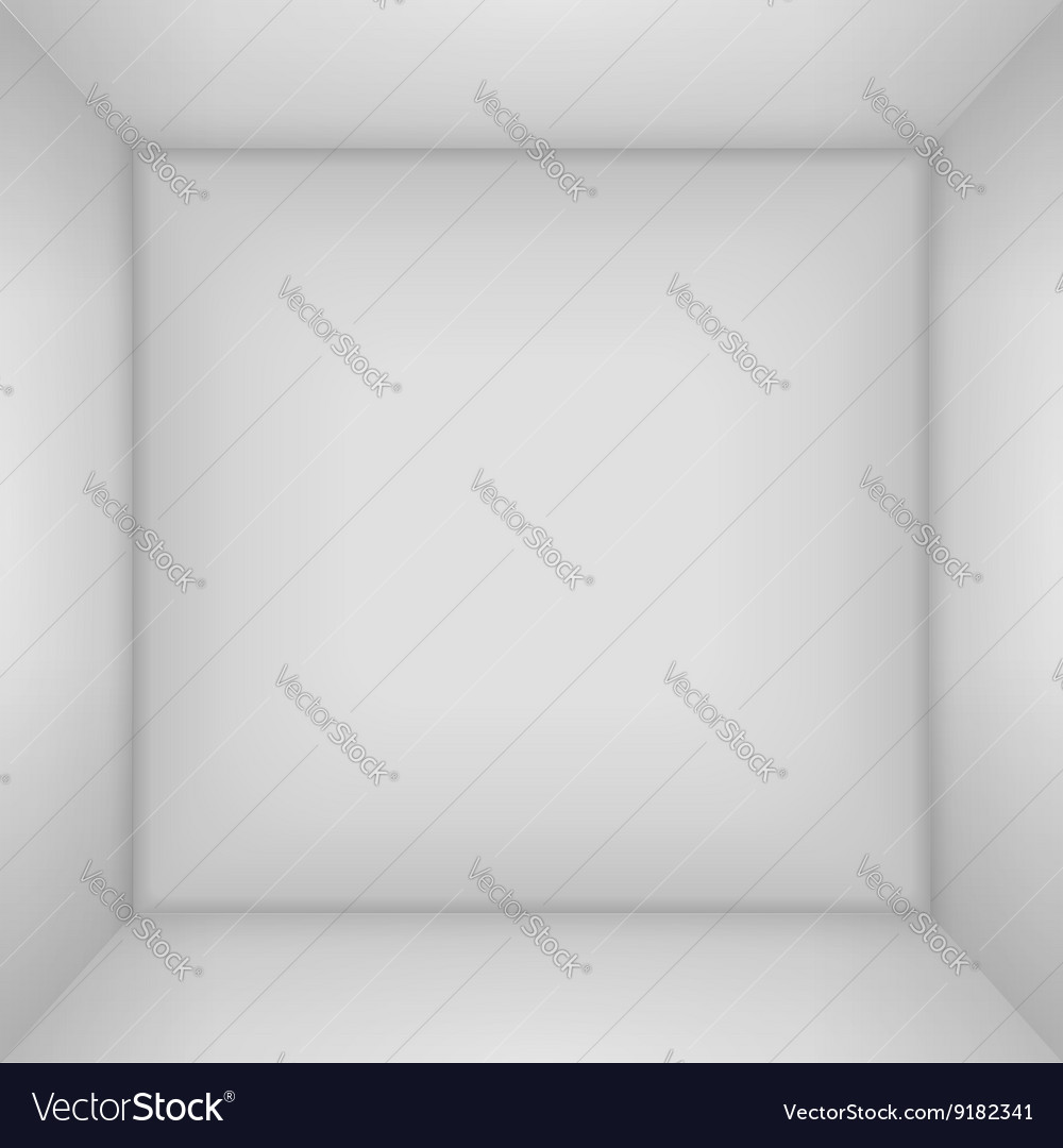 Box 3d top view inner space of the box vector