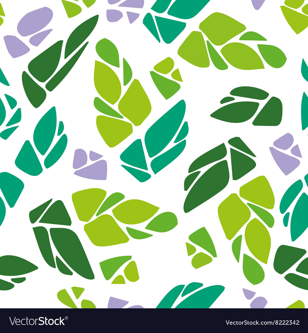 Seamless pattern with cones of hops vector
