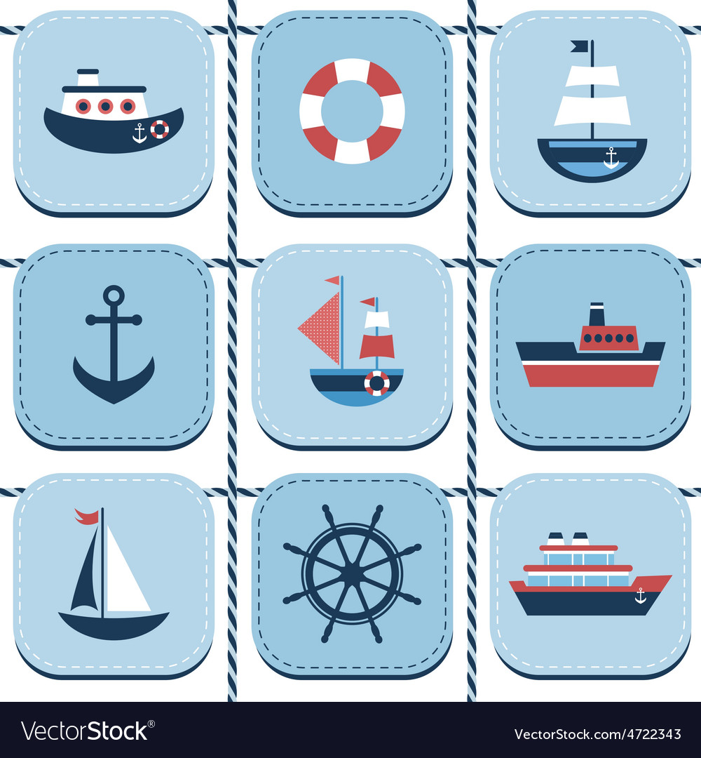 Blue background with water transport vector
