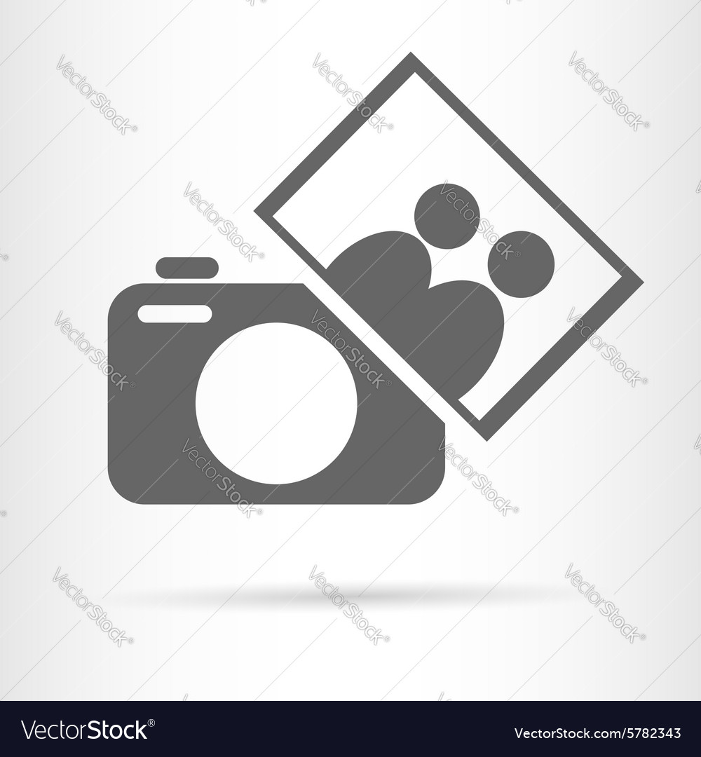 People photo camera icon vector