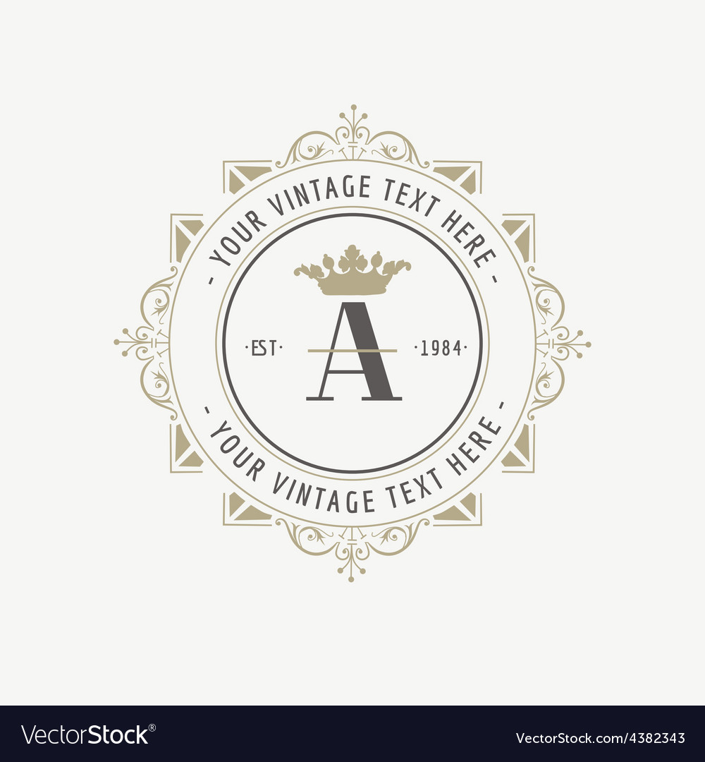 Vintage frame  monogram or calligraphic design vector