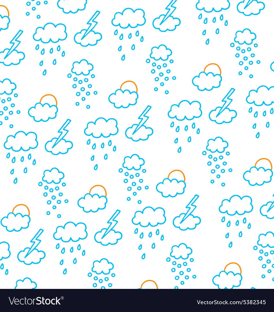 Clouds snow rain sun and storms vector