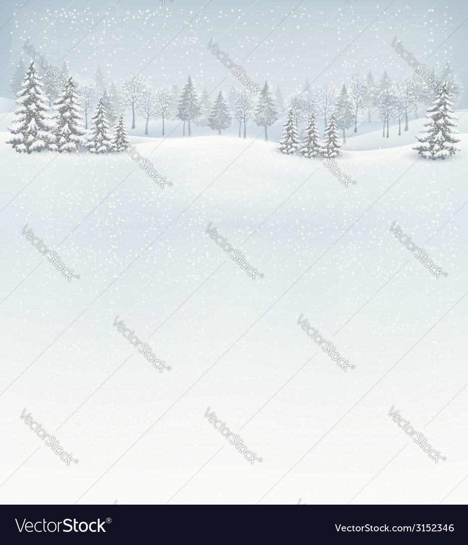 Christmas winter landscape background vector