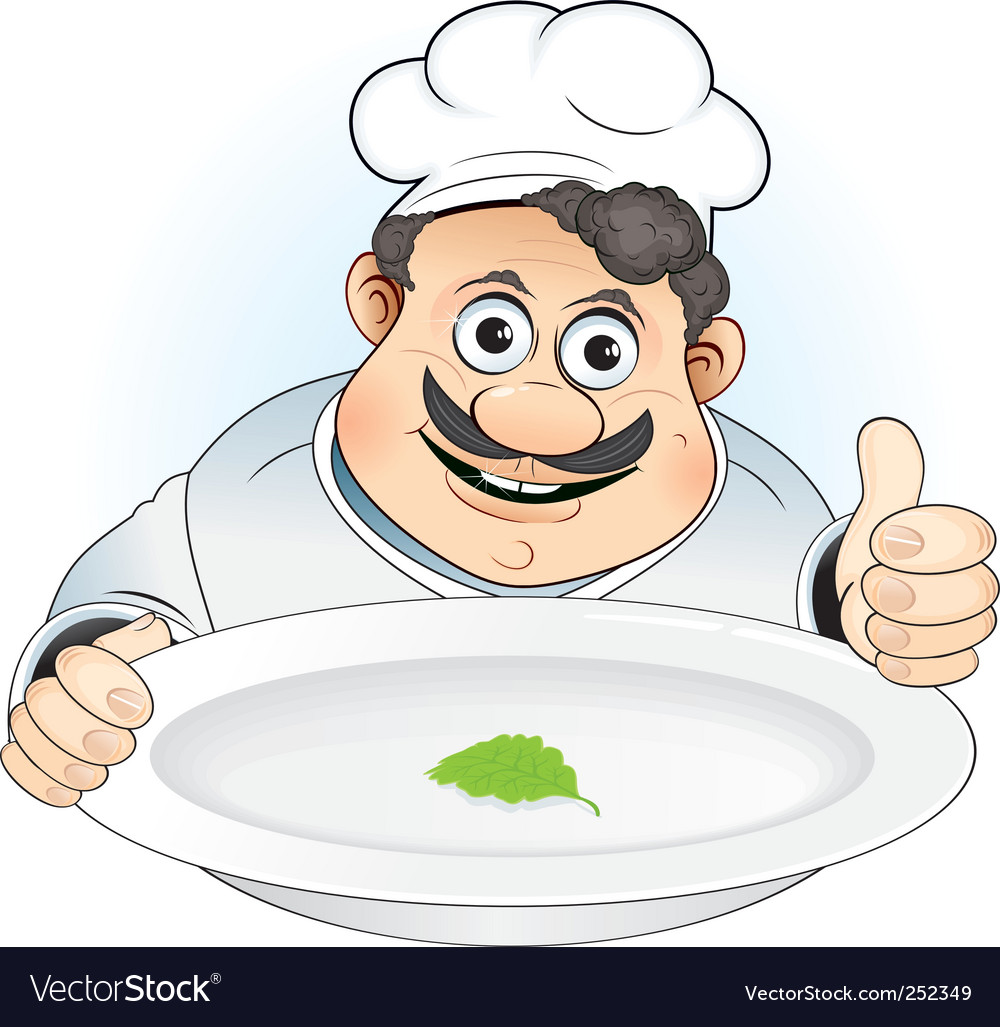 Cartoon chef vector