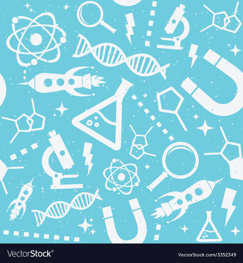 Science blue pattern vector