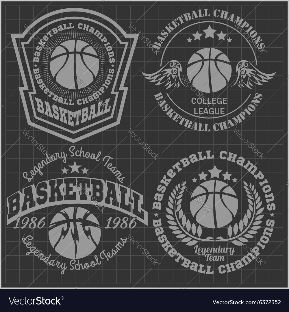 Basketball championship  emblem for t vector
