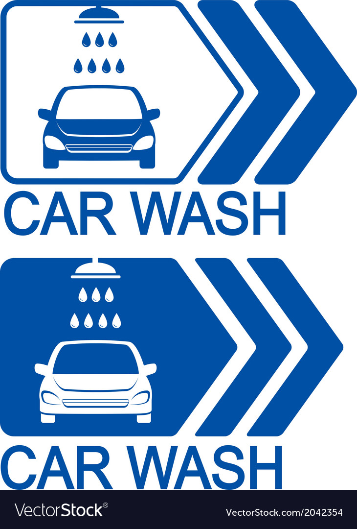 Car wash icon with arrow vector