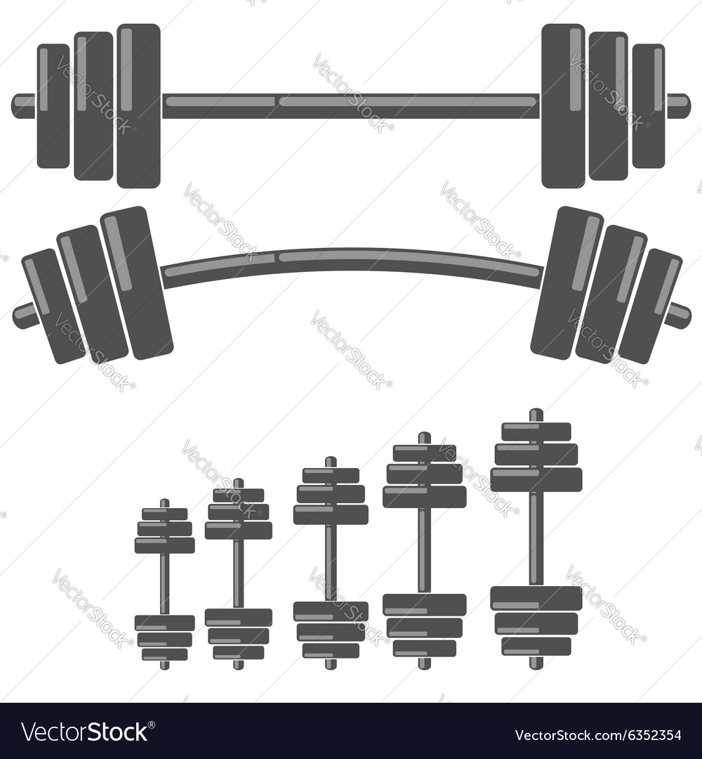 Set of barbells vector