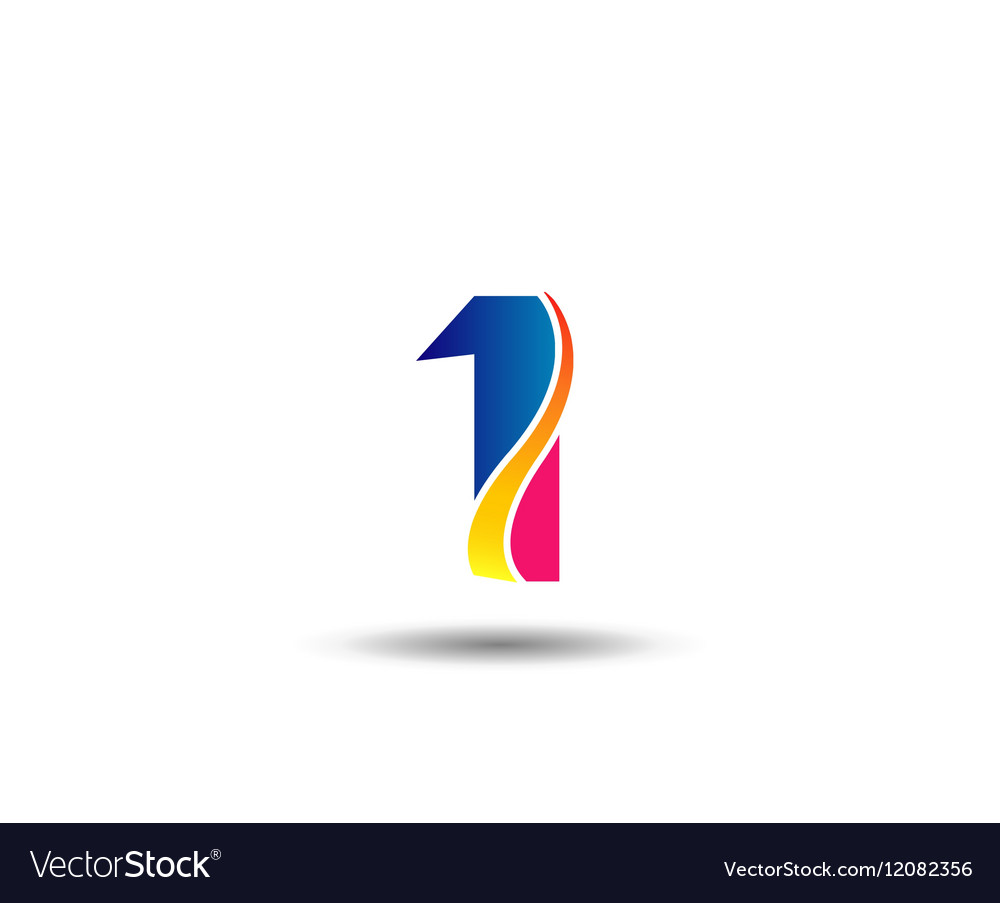 Sign number 1 logo vector