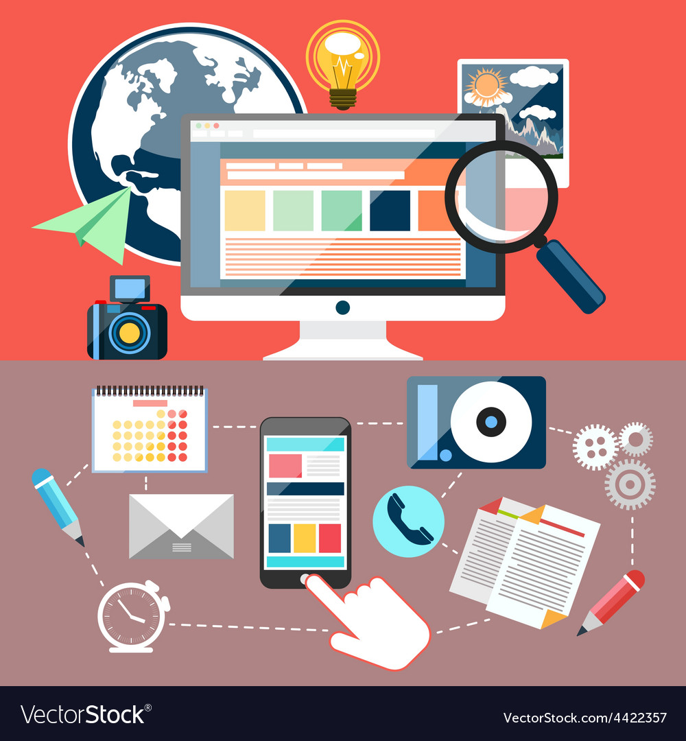 Educational oblects and tools vector
