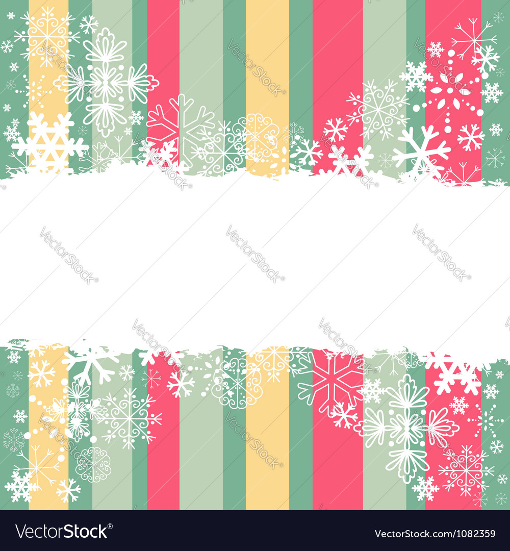 Winter invitation postcard with snowflakes vector