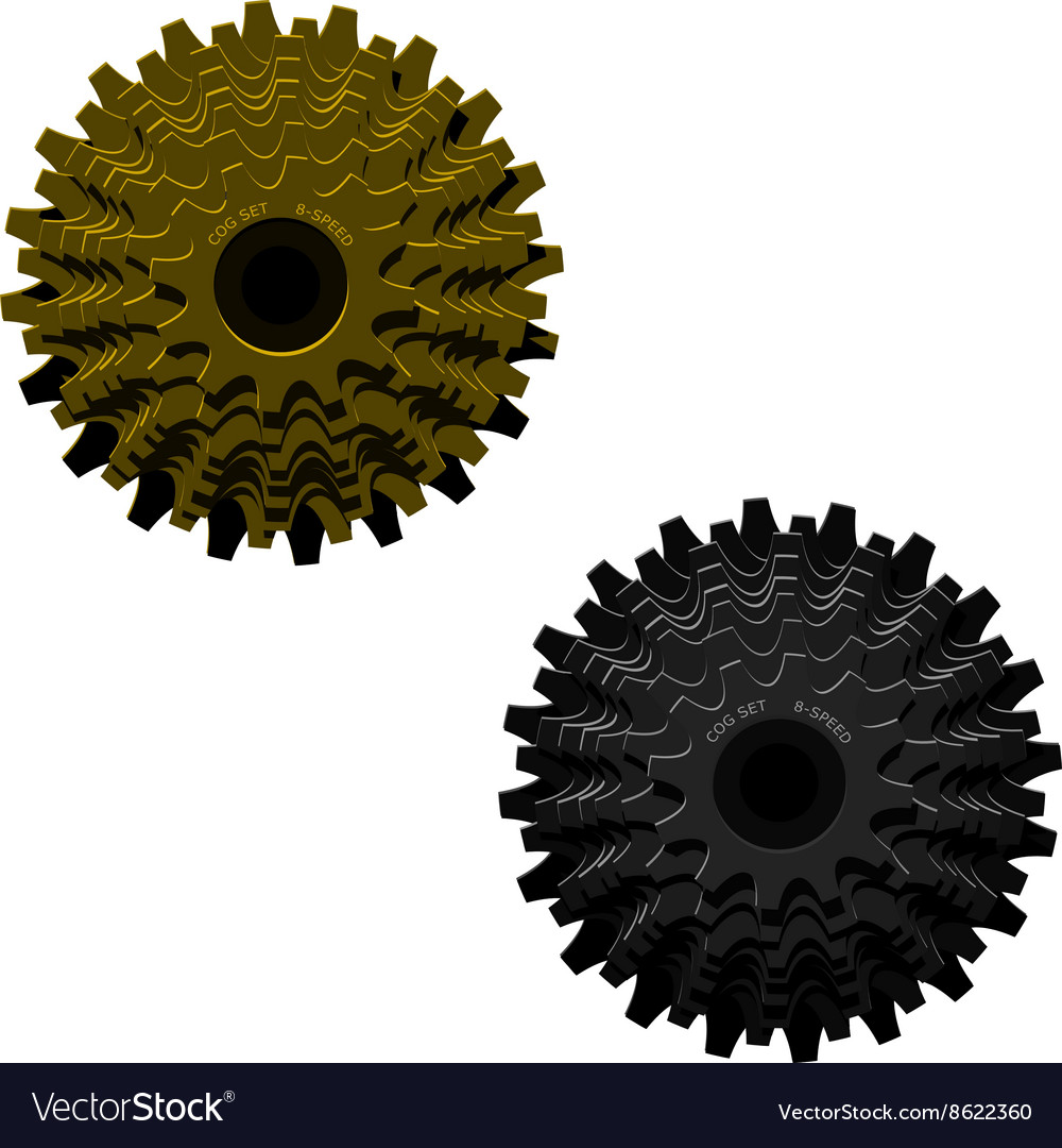 Cog set vector