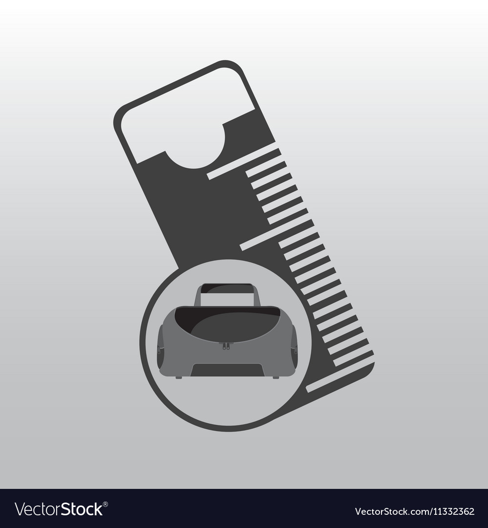 Fitness sport bag icon measure tape vector