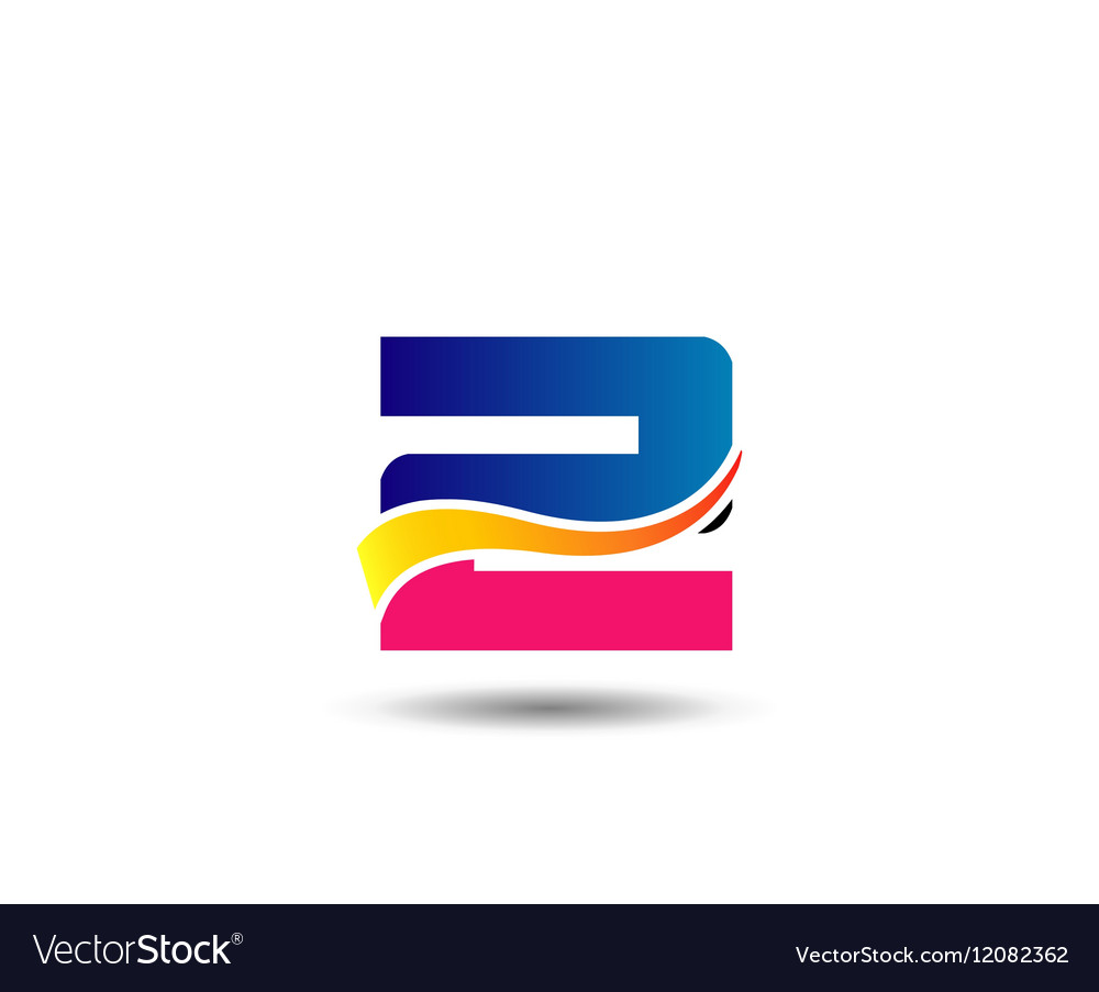 Sign number 2 logo vector