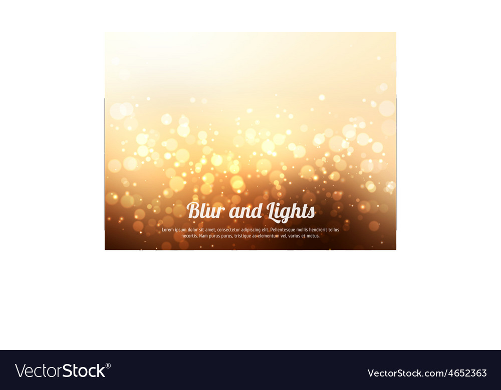 Abstract gold colorful bokeh background festive vector
