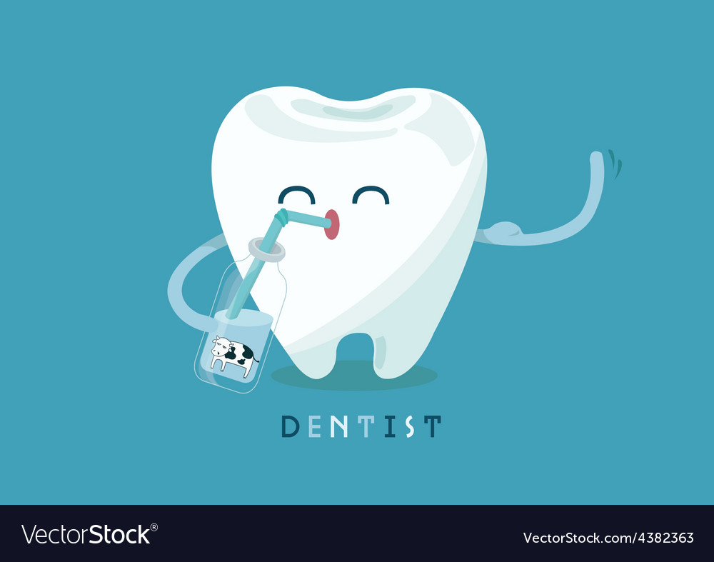 Calcium for tooth vector