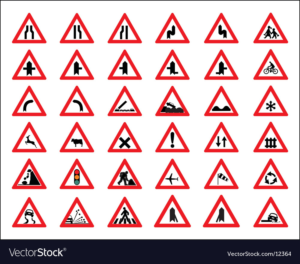 Traffic signs and symbols vector