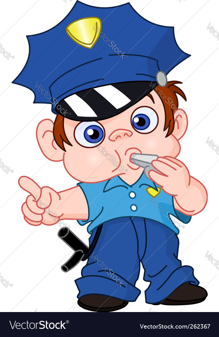 Young policeman vector