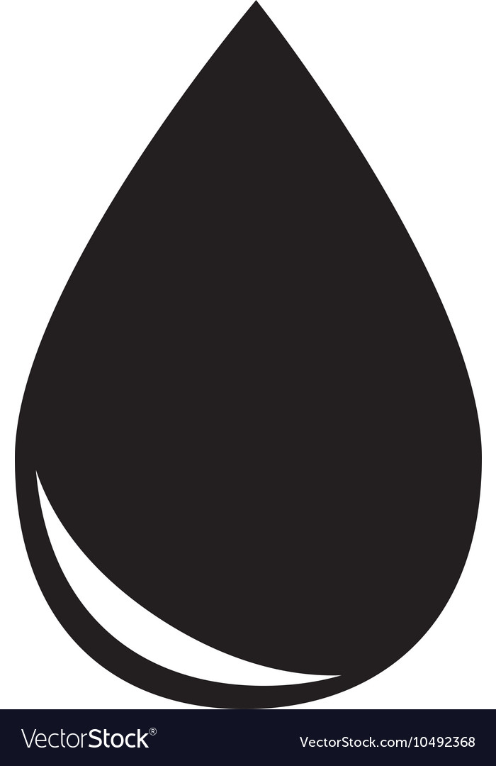 Drop gasoline oil isolated design vector