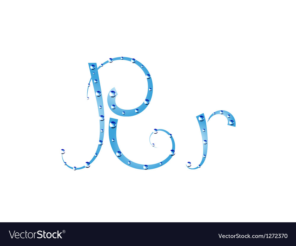 Fairy aqua alphabet vector