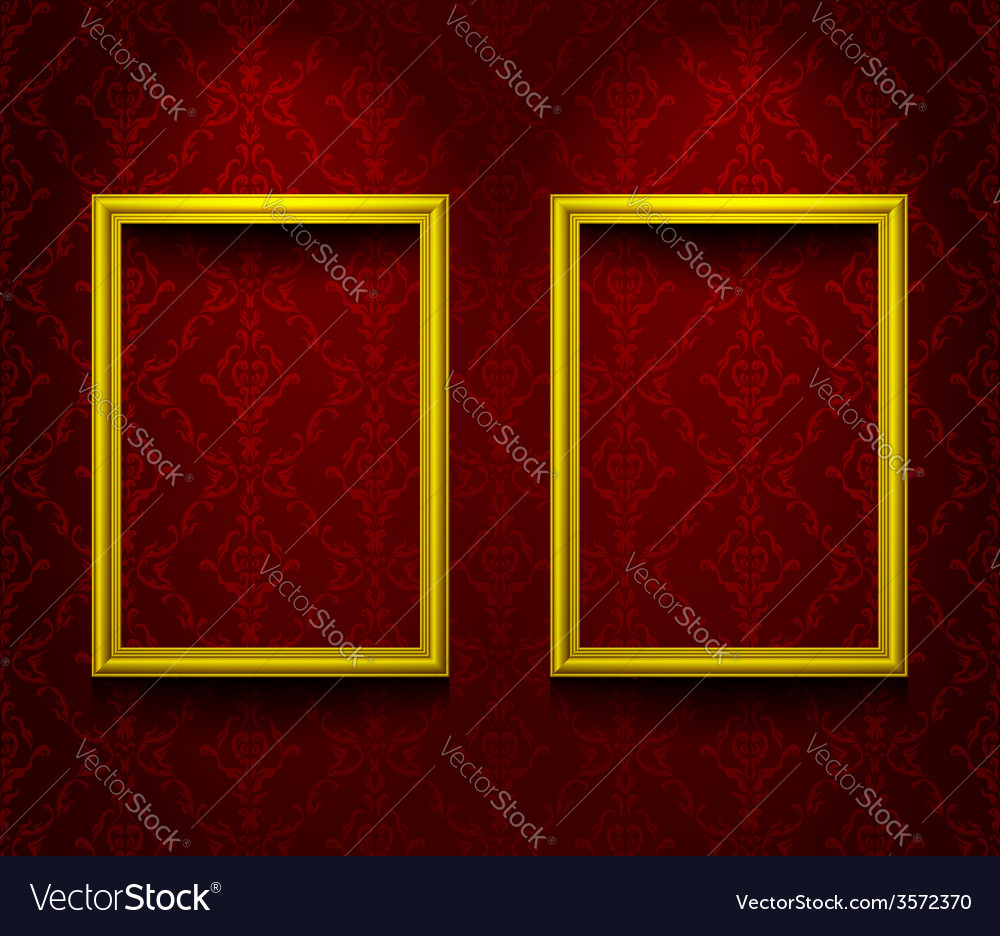 Two lightened frames vector