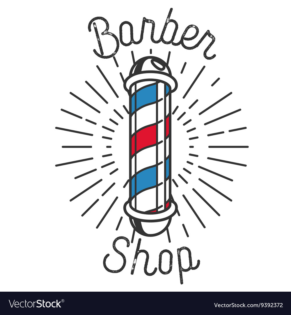 Color vintage barbershop emblem vector