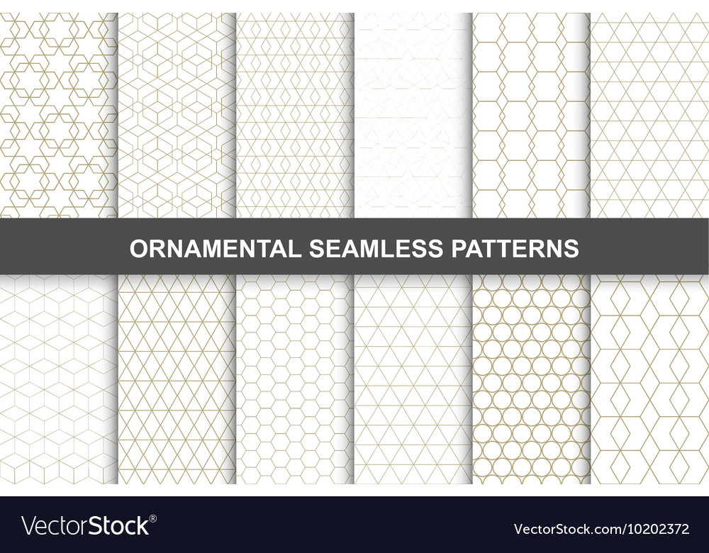 Ornamental patterns  seamless collection vector