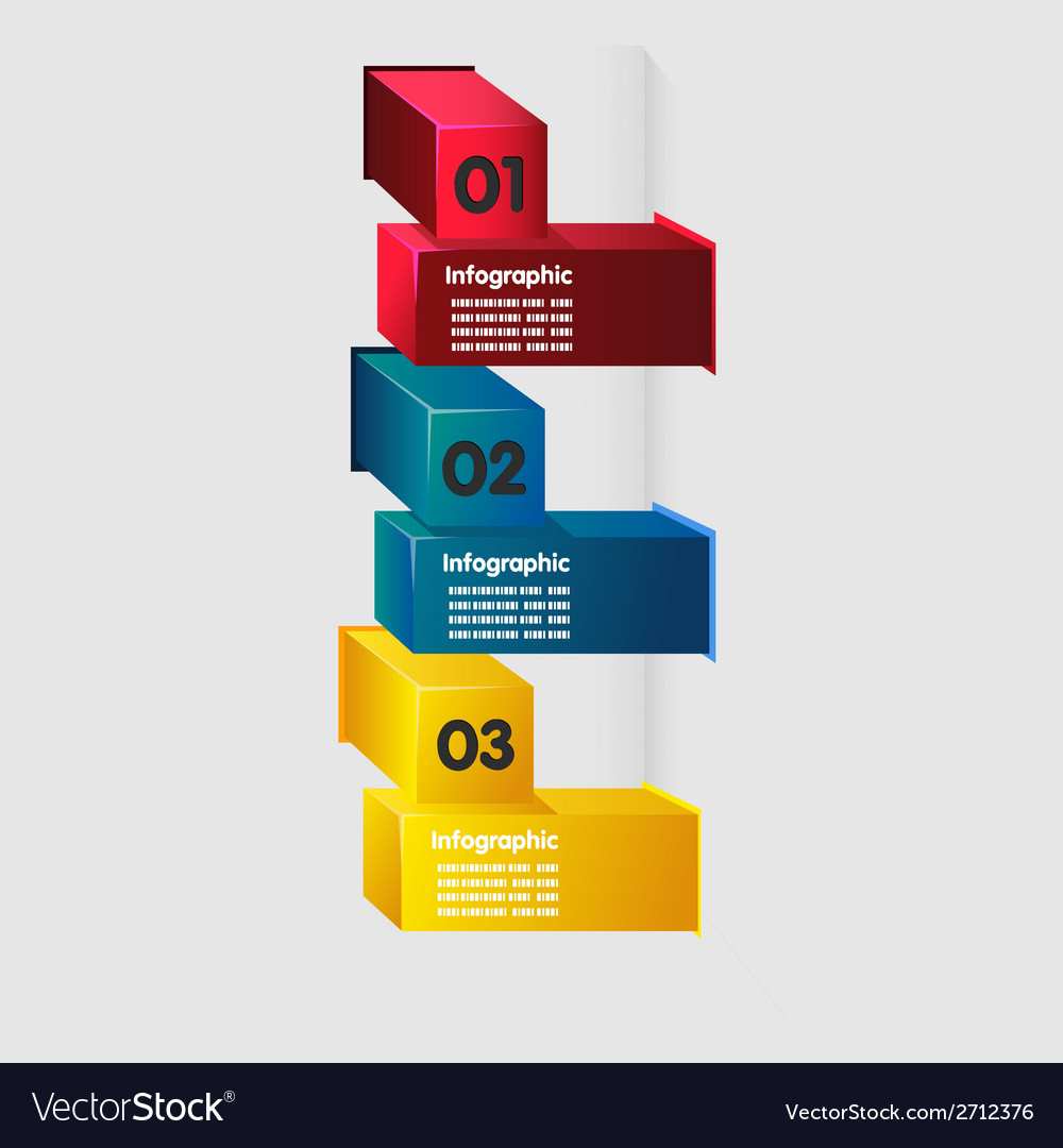 Cube infographic vector