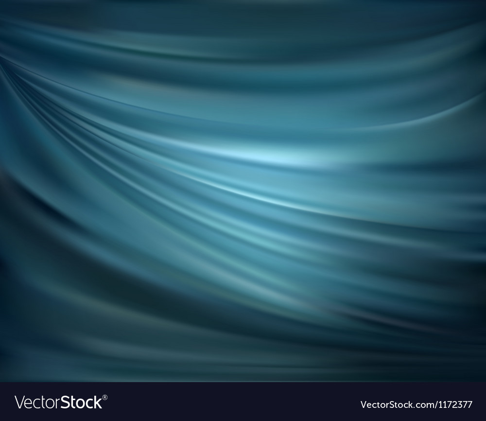 Blue abstract satin curtain background vector