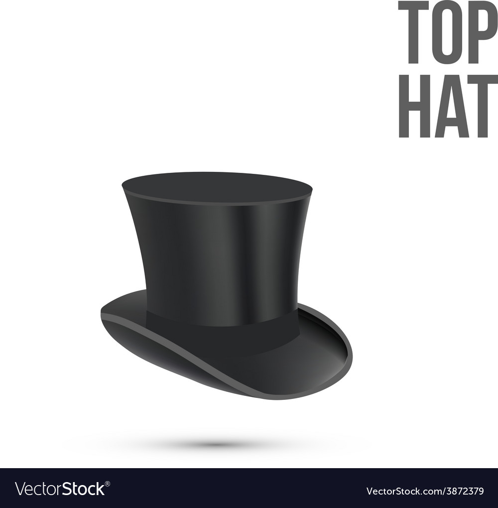 Top hat isolated on white vector