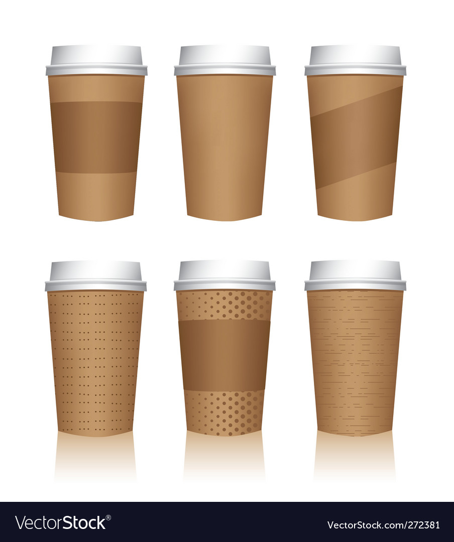 Coffee cup templates vector