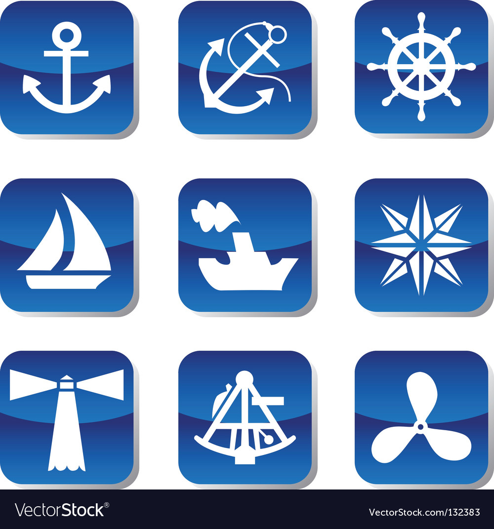 Sail icons vector