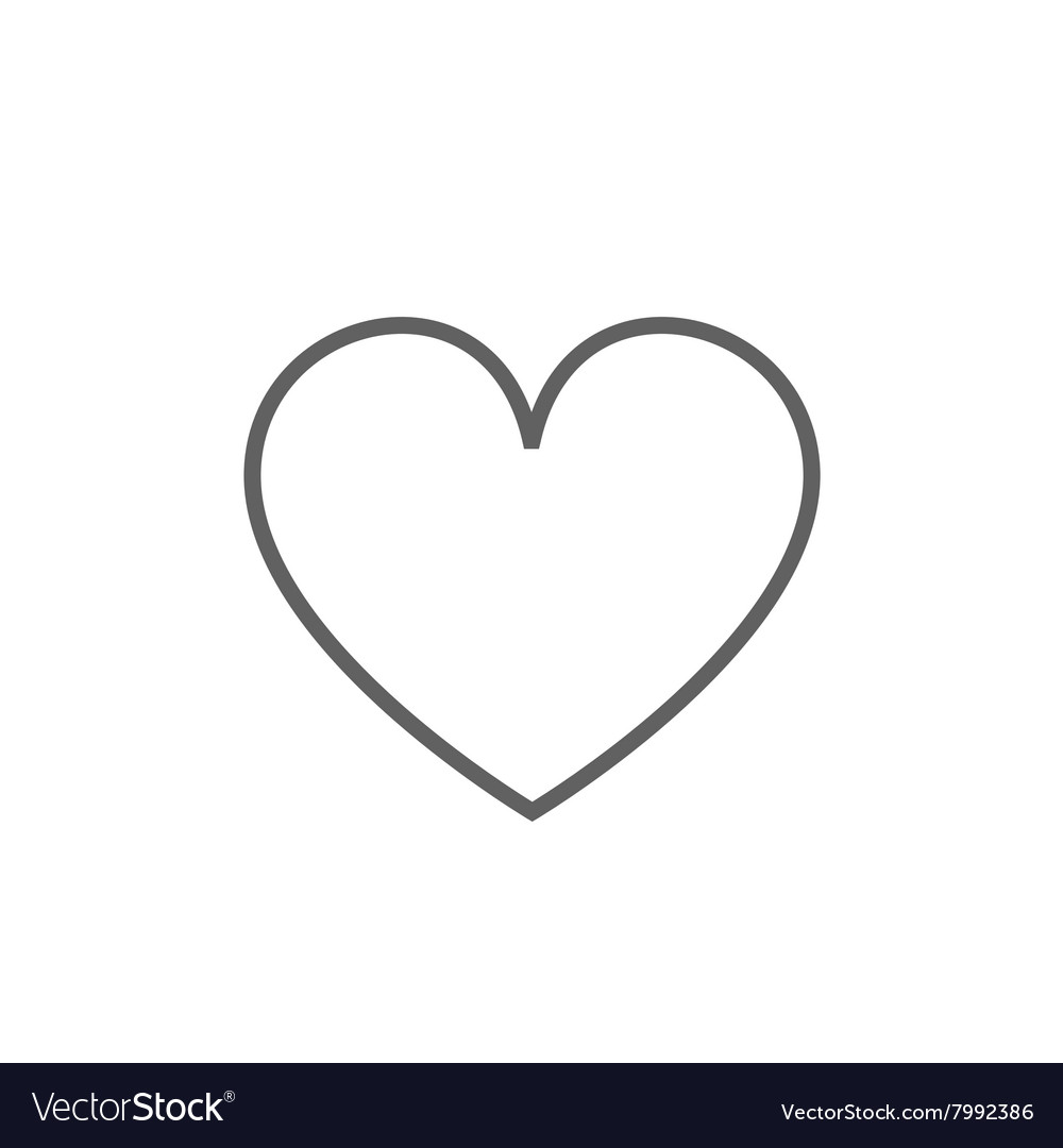 Heart sign line icon vector