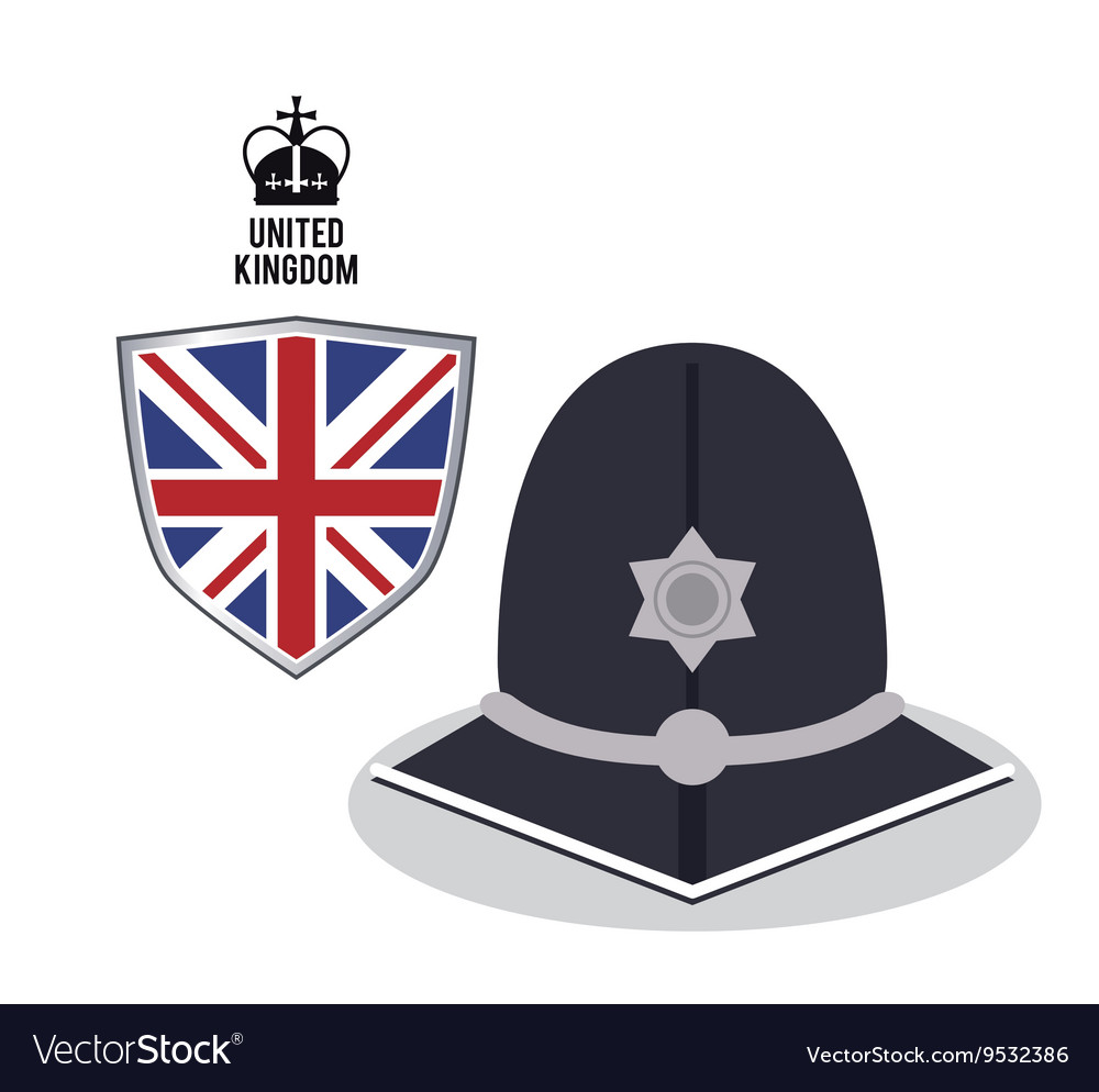 Police hat icon united kingdom design vector
