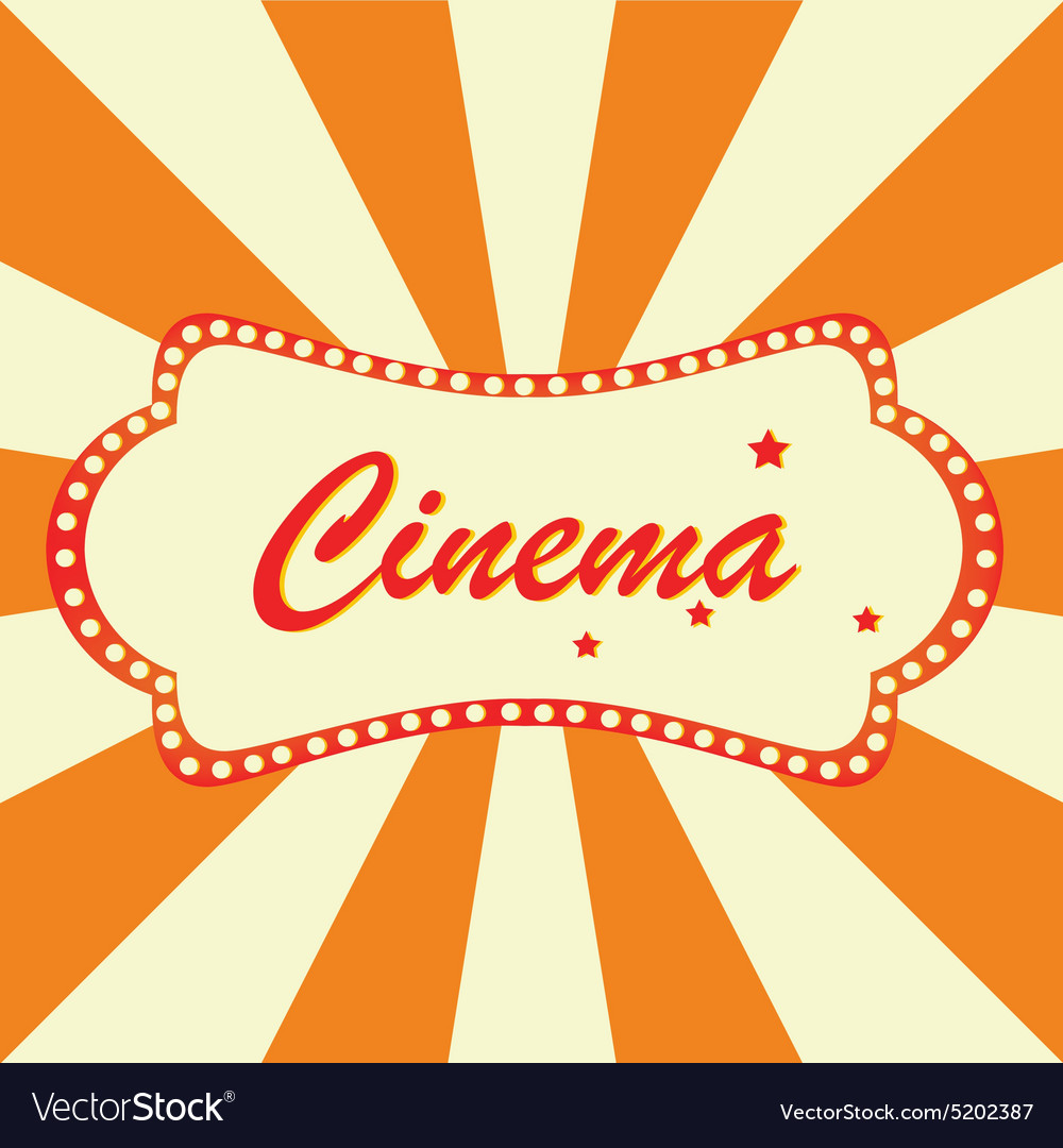 Cinema billboard vector