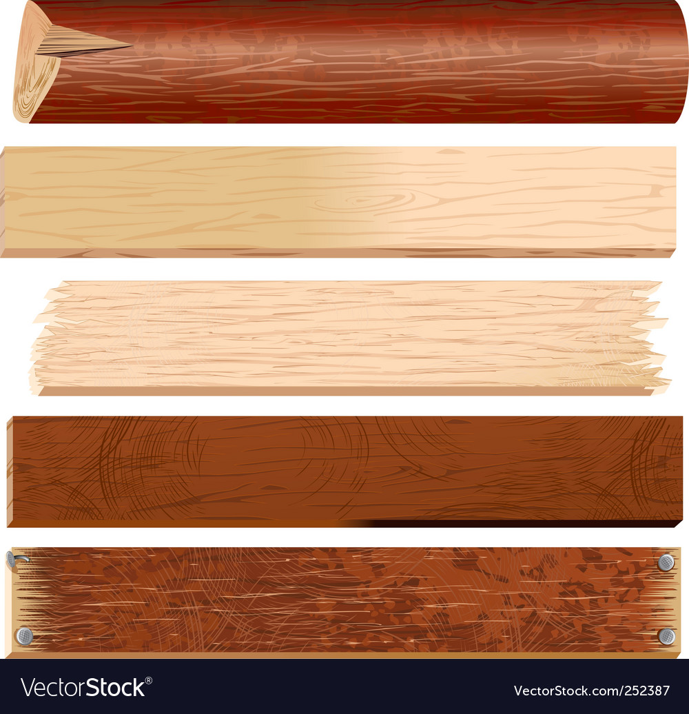 Logs and planks vector