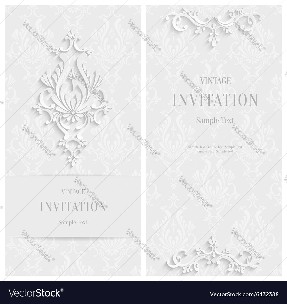 White floral 3d background template for vector