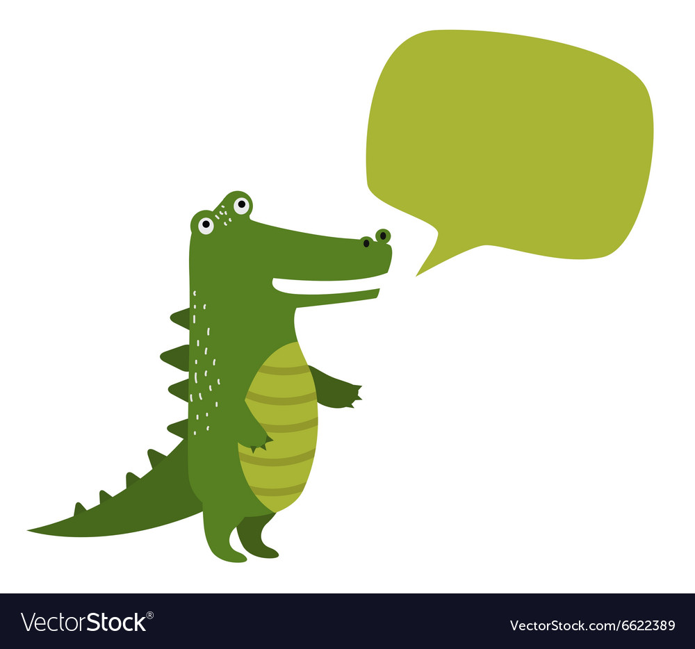 Cartoon rocodile holdingclean banner board vector